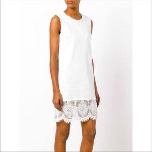 MCQ by Alexander MCQ denim lace dress